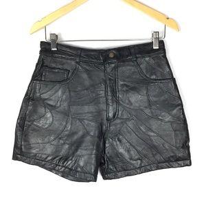 Vintage NWOT genuine leather biker grunge shorts